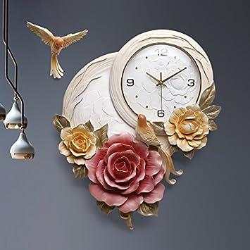 Solide Moderne Wohnzimmer Uhren Wanduhr Große Schautafeln Der Uhr Stille  Quarzuhr, Rot