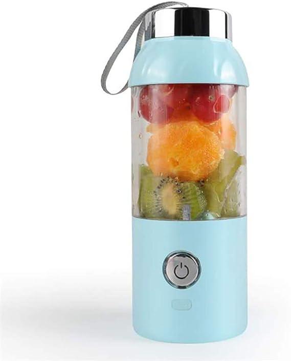 CCHM Juguera portátil Taza de Vegetales Jugo de Fruta Botella Extractor Licuadora,Rosado: Amazon.es: Deportes y aire libre