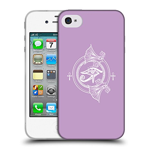 GoGoMobile Coque de Protection TPU Silicone Case pour // Q09800617 Religion 20 Bright Ube // Apple iPhone 4 4S 4G