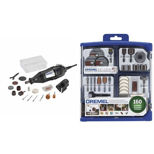 Dremel 200-1/15 Two-Speed Rotary Tool Kit with 160 Piece Accessory Kit