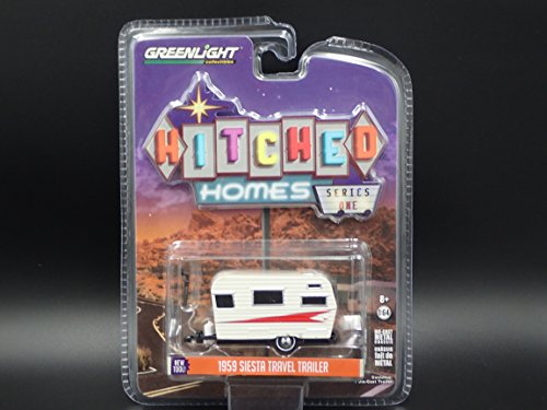 1959 SIESTA TRAVEL TRAILER 1:64 2017 GREENLIGHT HITCHED HOMES SERIES 1