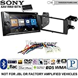 Volunteer Audio Sony XAV-W651BTN Double Din Radio Stereo Install Kit with Bluetooth, Pandora, iPhone Control, USB, AUX, Navigation Fits 2012-2015 Non Amplified Toyota Prius C