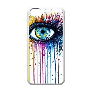 Custom Colorful Case for Iphone 5C, Rainbow Eye Cover Case - HL-R638979