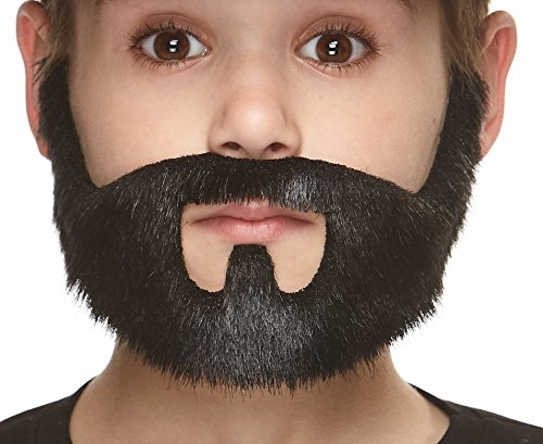 Mustaches Self Adhesive, Novelty, Fake, Small On Bail Beard, Black Lustrous Color by Mustaches