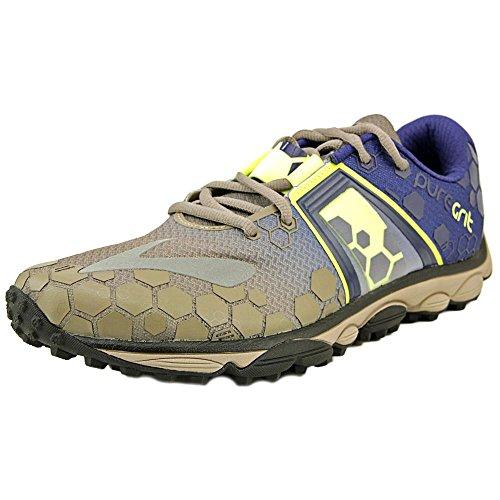 Brooks Mens PureGrit 4 Driftwood/Blueprint Athletic Shoe