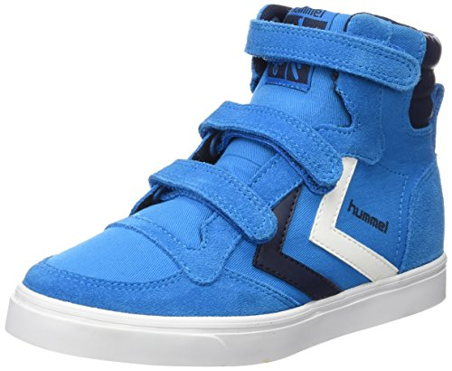 Hummel STADIL CANVAS JR HI - Zapatilla alta Unisex Niños Blau (Methyl Blue 7672)