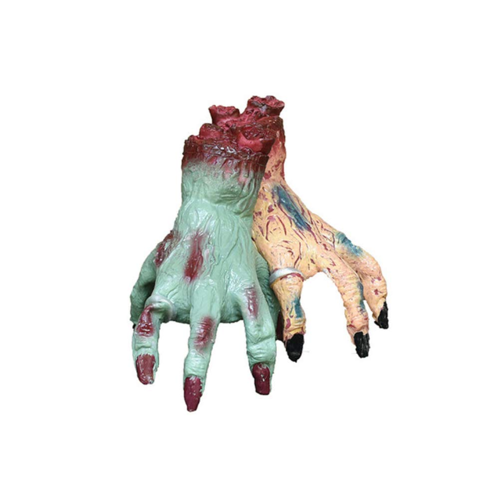 ZKKAW Halloween Decoration, Halloween Monster Hand, Activated Crawling Monster Hand Realistic Severed Fake Hands for Haunted House Party, 2 Pcs by ZKKAW