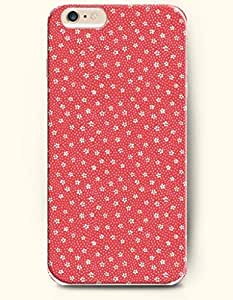 iPhone 6 Plus Case 5.5 Inches Little White Flower Pattern - Hard Back Plastic Case OOFIT Authentic by Maris's Diary