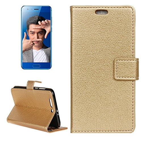 ZITEZHAI-Fashion case for Huawei Honor 9 Litchi Texture Horizontal Flip Leather Case with Holder & Card Slots & Wallet & Photo Frame (Color : Gold)]()