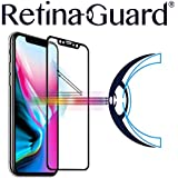 RetinaGuard Anti-Blue Light Tempered Glass Screen Protector for iPhone Xs/iPhone X (Black Border) - SGS & Intertek Tested - Blocks Excessive Harmful Blue Light, Reduce Eye Fatigue and Eye Strain
