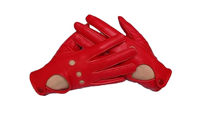 44cb73ae1 Image Unavailable. Image not available for. Color: Sheepskin leather  driving gloves for Women ...