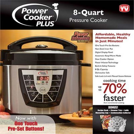 Power Cooker 9-in1 Digital Pressure Cooker 8 quart with Flavor Infusion technology by Power Cooker