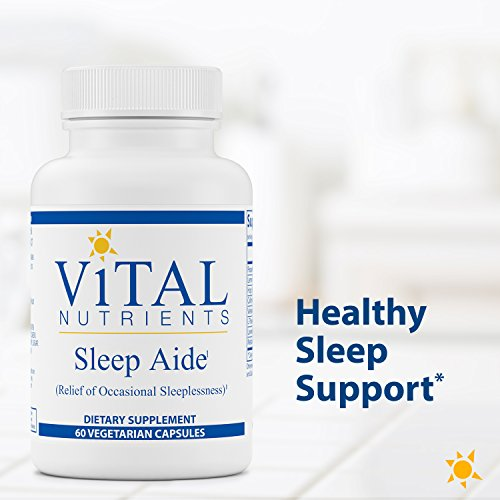 Vital Nutrients - Sleep Aide - Non Habit Forming Relief of Occasional Sleeplessness - 60 Capsules by Vital Nutrients (Image #2)