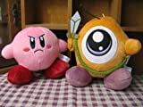 Kirby Plush Yellow & Pink Adventure 2pcs Doll Stuffed Animals Figure Soft Anime Collection Toy