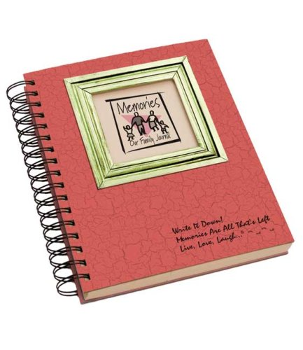 Memories, Our Family Journal - Cranberry Hard Cover (prompts on every page, recycled paper, read more...)