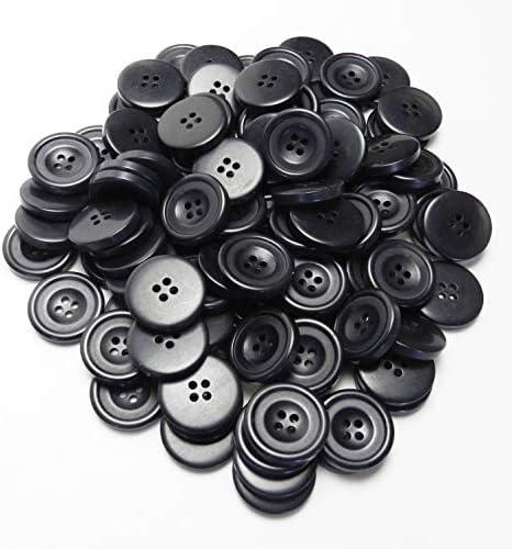 模様入り グレー系ボタン 23mm 4穴 コート フロントボタン 最適 100個入り MA1010-23-GY-196