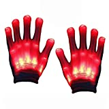 Birthday Present for 3-12 Year Old Boys Girls, SOKY Light Flashing Gloves