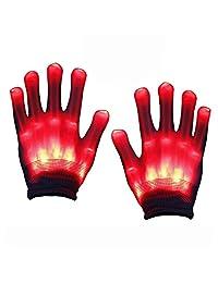 SOKY Newest LED Light Finger Light Flashing Rave Gloves - Party Favor for Kids