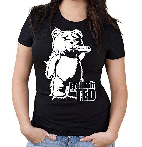 Freiheit für Ted Girlie Shirt   Fuck you Thunder   Fun