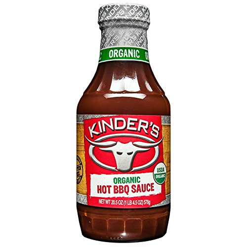 KINDERS, Organic BBQ Sauce; Hot; Gf, Size - 20.5 Ounce, Pack