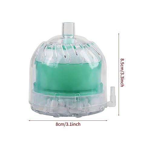 Petyoung Filtro Mini Acuario Tanque de Peces Neumático Bioquímico Esponja Carbón Activado (Color : Green