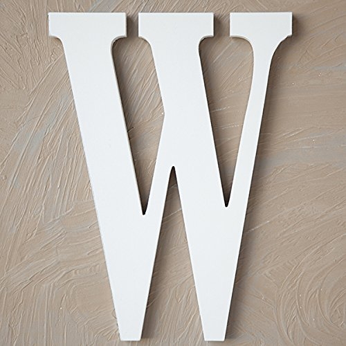 The Lucky Clover Trading W Wood Block, 24'' L, White Wall Letter by The Lucky Clover Trading