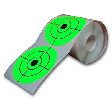 Big Dawg Targets 250 Target Roll - Florescent 3  Inch Adhesive Shooting Target Stickers