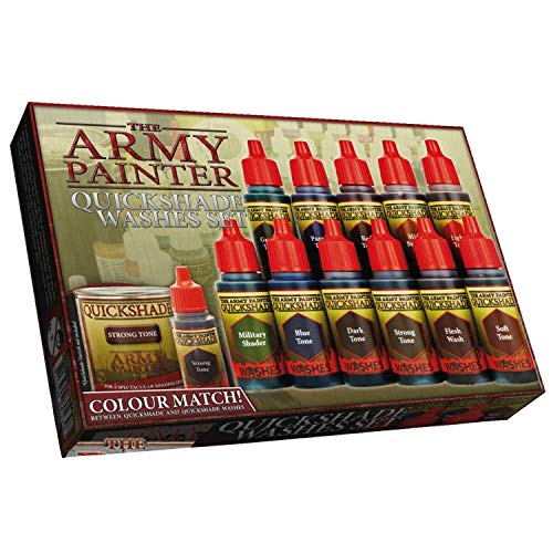 The Army Painter Warpaints Quickshade Wash Set - Miniature Painting Kit of 11 Dropper Bottles with Fluid Acrylic Paint - Dragon Reviews Model