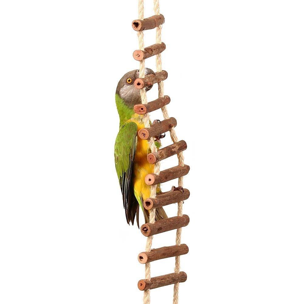 Corde en sisal naturel et pont de rondins–Taille L Northern Parrots
