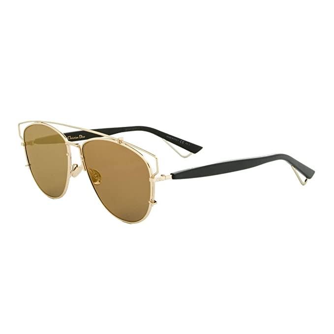 ee47d256c0 Christian Dior TECHNOLOGIC RHL 83 gold black gold mirror Sunglasses   Amazon.ca  Clothing   Accessories