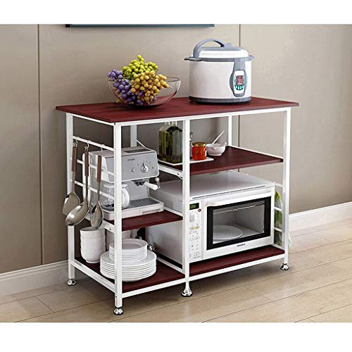 Nesee 3-Tier+3-Tier Microwave Stand 35