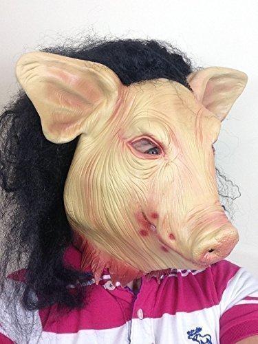 Terror Jigsaw Máscara De Cerdo Horror Saw Película Animal Disfraz De Halloween Accesorio: Amazon.es: Juguetes y juegos