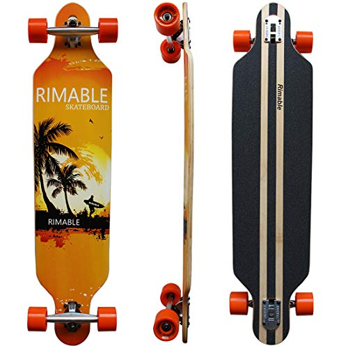 RIMABLE Drop-Through Longboard 41-inch