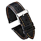 PBCODE Quick Release Watchband Leather Strap 20mm 22mm Replacement Band for Watches Smartwatches Soft
