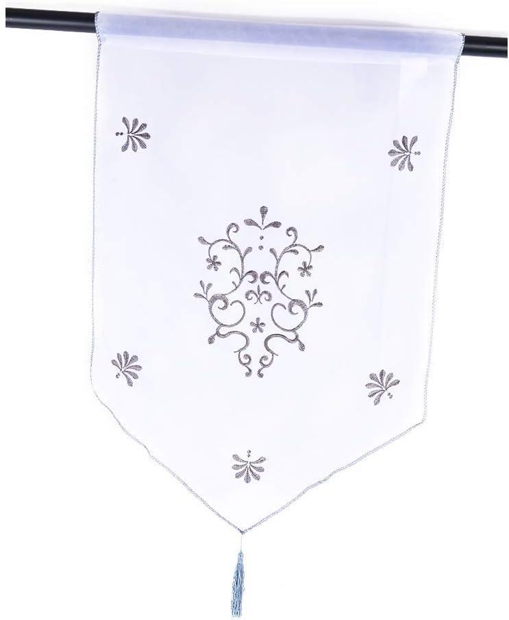 40x60cm Souarts 1PC Rideau Brise Bise Rideau Voilage Motif Hibou Broderie pour D/écoration Chambre Salon