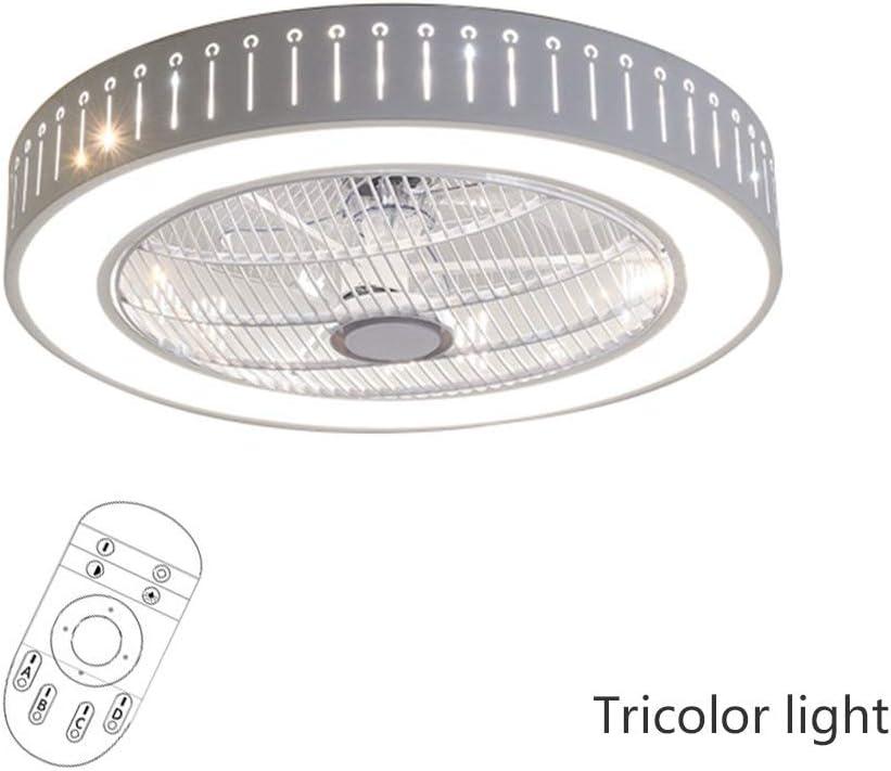 Luz de Techo LED Regulable con función de Ventilador Control Remoto, 40W Luz Tricolor Blanco cálido/Blanco Neutro/Blanco frío Lámpara de Techo Diseño geométrico Pasillo Cuarto de baño Iluminación