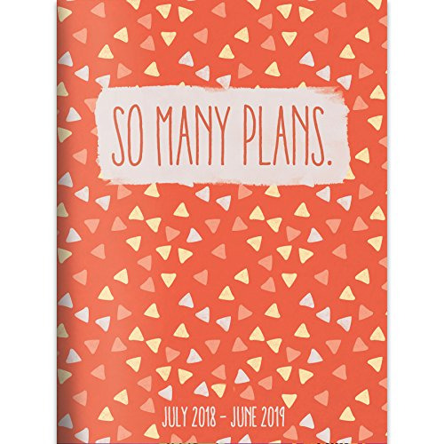 """TF Publishing 19-4240A July 2018 - June 2019 So Many Plans Monthly Planner, 7.5 x 10.25"""", Orange & White"""