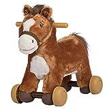 Rockin' Rider Peanut Rolling Pony Plush, Brown