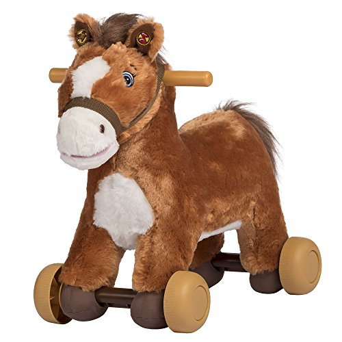 Rockin' Rider Peanut Rolling Pony Plush, Brown]()