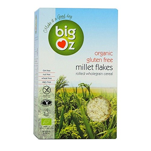 Big Oz Organic Gluten Free Millet Flakes 500g (Pack of 4) by Big Oz
