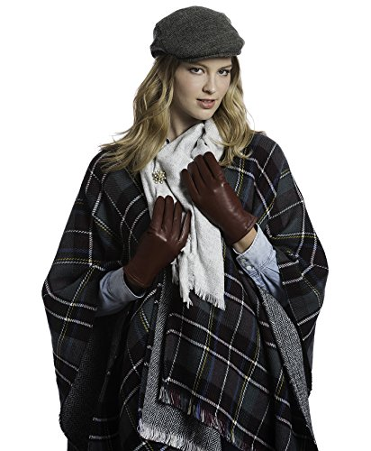Pratt and Hart Women's Classic Thinsulate Lined Leather Gloves