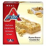 Atkins Meal Bar, Peanut Butter Granola, 5 Bars