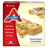 Atkins Meal Bar, Peanut Butter Granola, 5 Bars