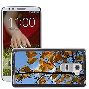 Hot Style Cell Phone PC Hard Case Cover // M00169677 Leaves Road Yellow Autumn // LG G2 D800 D802 D802TA D803 VS980 LS980