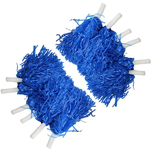 [Pom Pom set - Cheer leading Pom Poms - Cheerleaders Accessory by Funny Party Hats (6 Pair)] (Cheerleading Costumes Halloween)