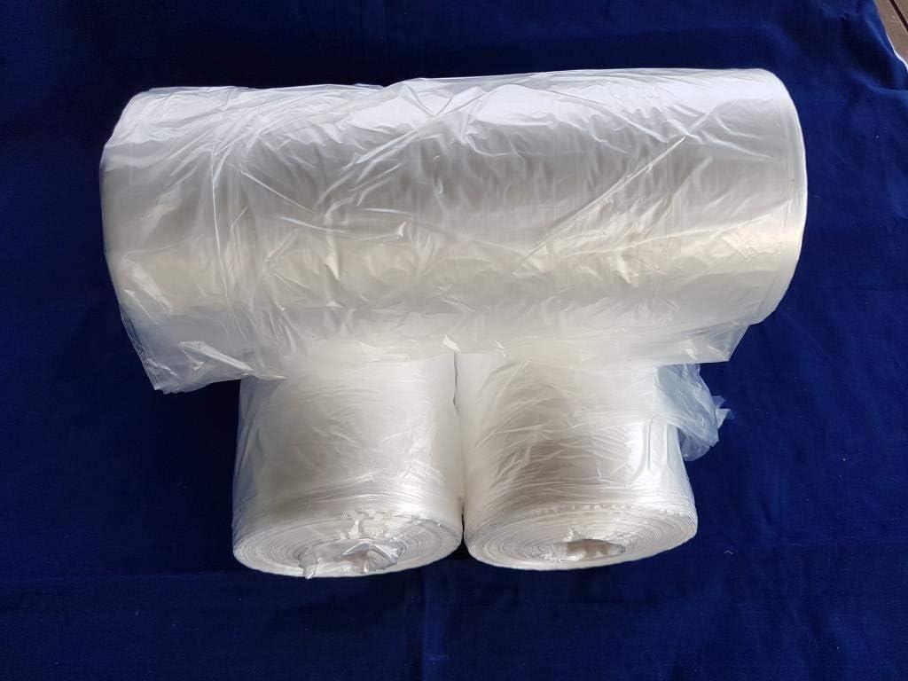LOT 3000 sacs en plastique emballage alimentaire Sacs en poly/éthyl/ène haute densit/é 25 x 40 cm en rouleau