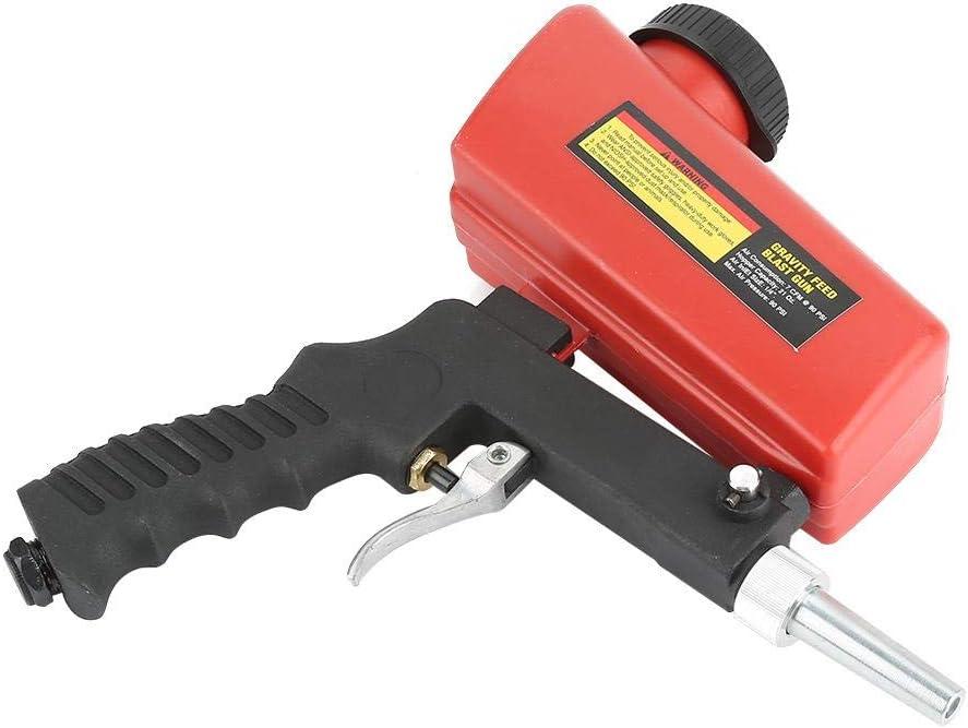 Pistola de chorro de arena neum/ática Pistola de chorro de arena port/átil con tolva para eliminar el /óxido