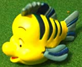 "Disney Little Mermaid Flounder, 1.5"" Figure Doll Toy, Cake Topper, Style May Differ"