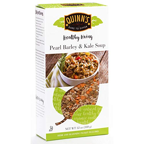 Pearl Barley & Kale Soup - Dry Soup Mix by Quinn's, 12 oz Box (Pack of 6) ()
