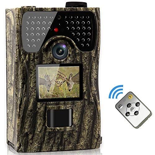 VENLIFE Trail Camera, 12MP Full HD 1080P 90° PIR Sensor Wildlife...